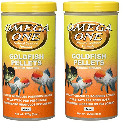 (2 Pack) Omega One Goldfish Medium Pellets 8-Ounces each