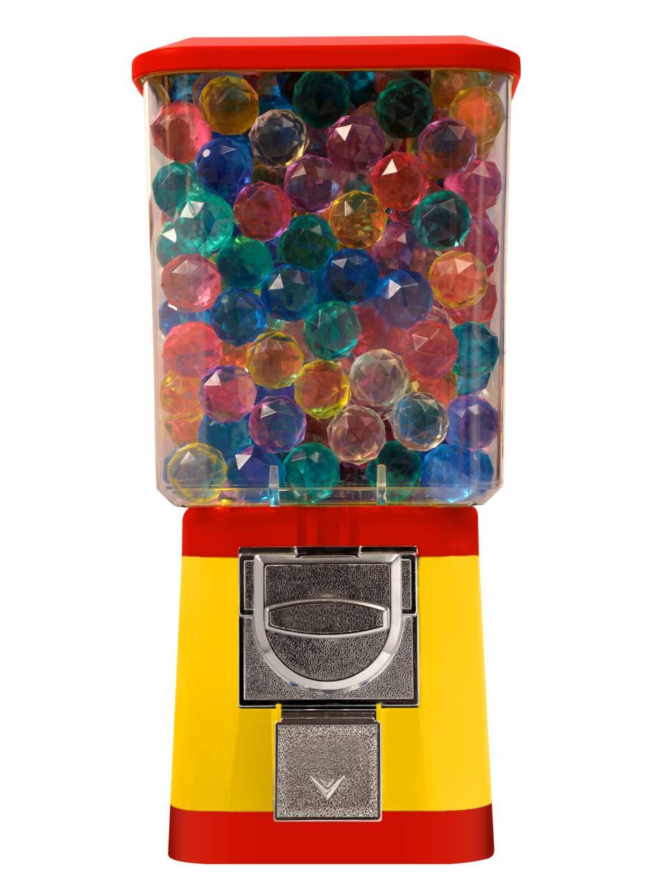 Gumball Bouncy Capsule Vending Machine $0.25 - Capsule Bouncy Ball Gumball Vending Dispenser Machine - Yellow Body & Red Trim by Global Gumball (Image #1)