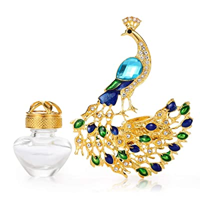 AMind Peacock Car Accessories Car Aromatherapy Essential Oil Diffuser Diamond Locket with Vent Clip and Best Home Decoration Car Decoration Without Oil: Home & Kitchen