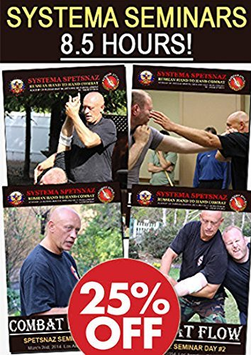 MARTIAL ART INSTRUCTIONAL DVDS: Learn Street Self-Defense Fighting Techniques with Russian Systema Spetsnaz, 8-hours of Hand To Hand Combat Training, Russian Martial Arts Instructional DVD Videos