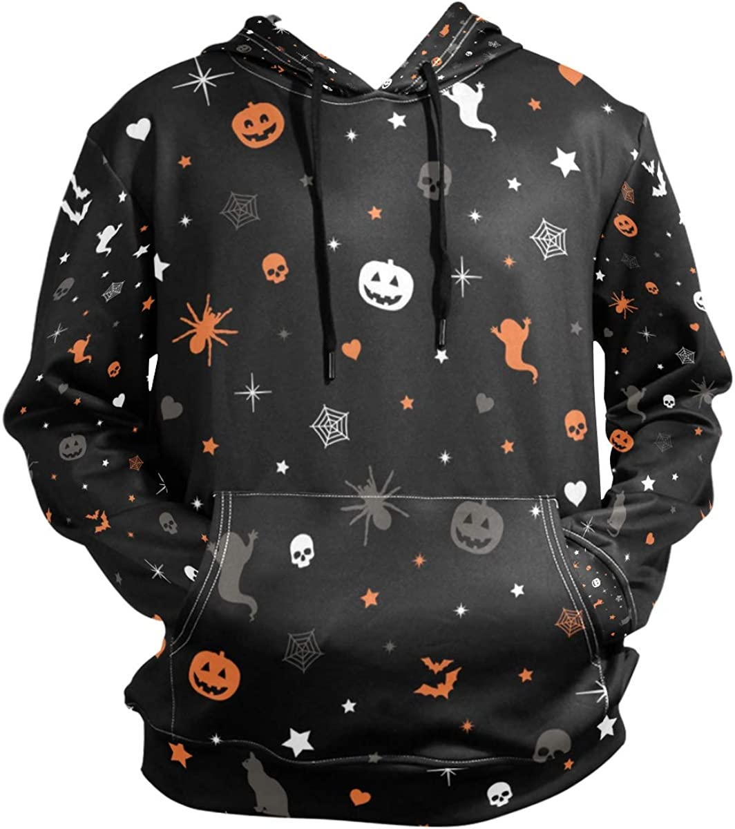 This is Halloween Mens Hooded Pocket Sweater Long Sleeve Classic