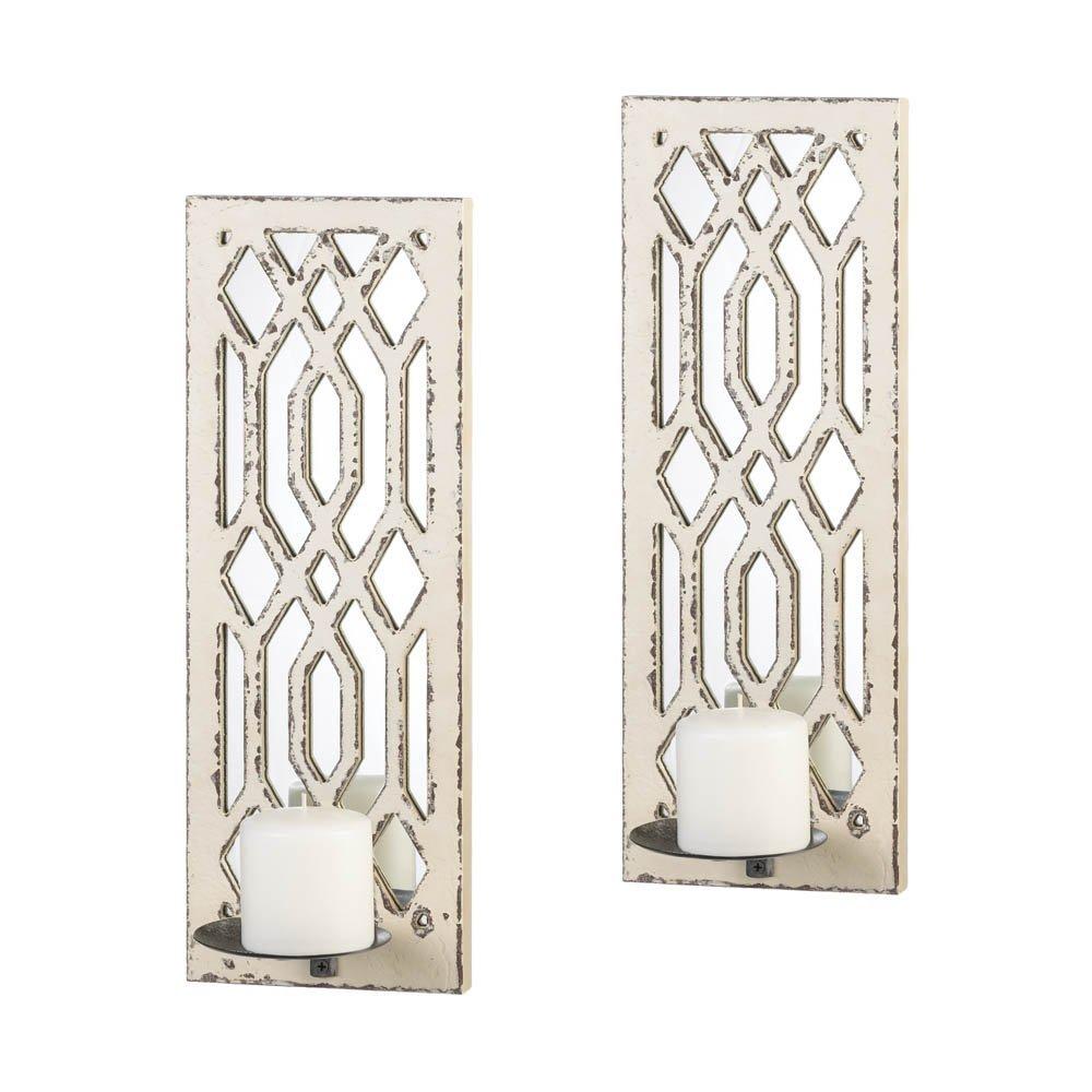 Decorative Candle Sconces, Indoor Modern Sconces Wall Decor (1 Pair)