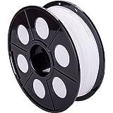 Stampa 3d, PLA filamento di materiali di stampa 3d 1,75mm 1kg con bobina/rotolo per stampanti 3d, bianco, 1