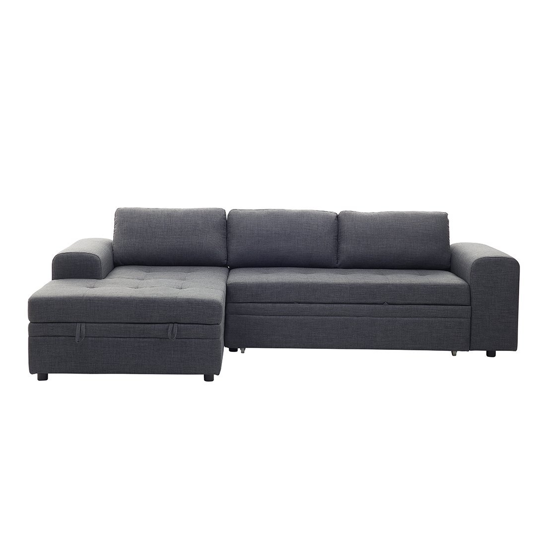 Amazoncom Beliani Modern Corner Sectional Sofa With Pull Out