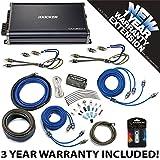 Kicker 43CXA3004 Car Audio 4 Channel Amp CXA300.4 & 4 GA Amplifier Accessory Kit - 3 Year Warranty!