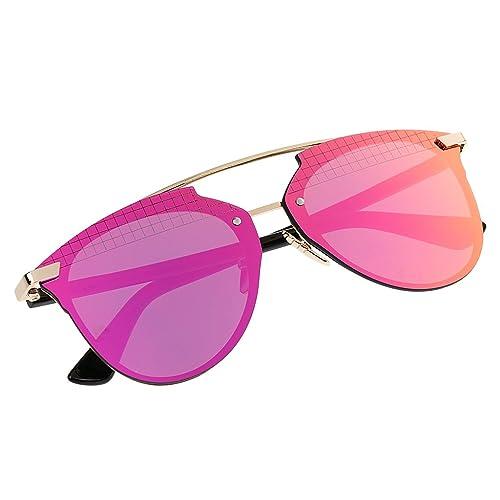 Gazechimp 1x Gafas de Sol Polarizada Acabado de Espejo Accesorios de Moda Unisexo