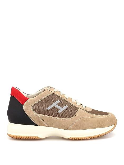 Hogan Hombre HXM00N0Q102KE4589M Beige Gamuza Zapatillas: Amazon.es: Zapatos y complementos