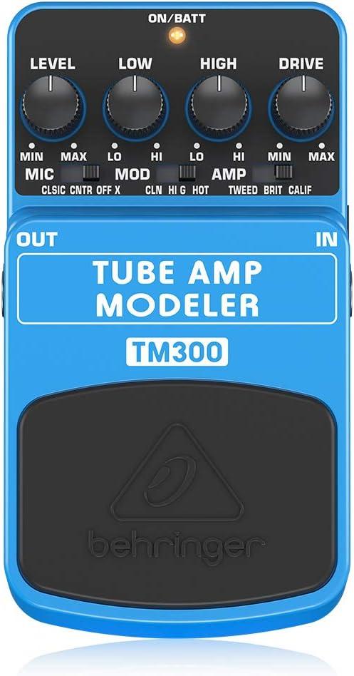 Behringer TM300 Ultimate Tube Amp Modeling Instrument Effects Pedal,Teal