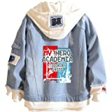 RAIN Boku No Hero Academia My Hero Academia Denim Jacket Graphic Hoodie Cosplay Unisex Anime, Blue, XX-Large