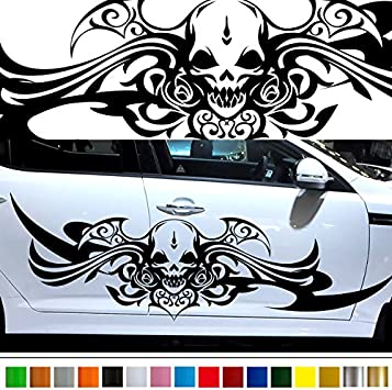 TRIBAL HEART MULTI COLORED DECAL VINYL GRAPHIC HOOD CAR TRUCK