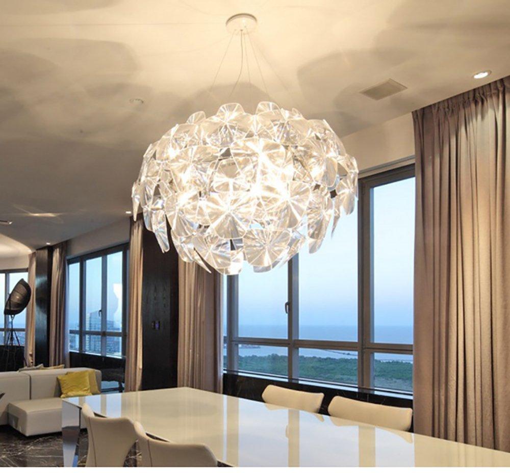 CIFFOSTT Lámparas, Lámpara de Araña de luz Neutra, Lámpara de Araña de Cristal Colgante Lámparas de Iluminación de Techo para Sala de Comedor, Sala de Estudio de Dormitorio