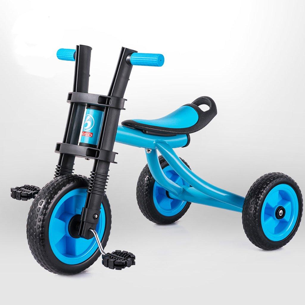 子供用トライク、三輪車の乗り物バイク、赤ちゃんの滑り自転車、おもちゃの自転車、自転車の子供、フットペダルの3つの車輪 (色 : A) B07DVND6YL A A