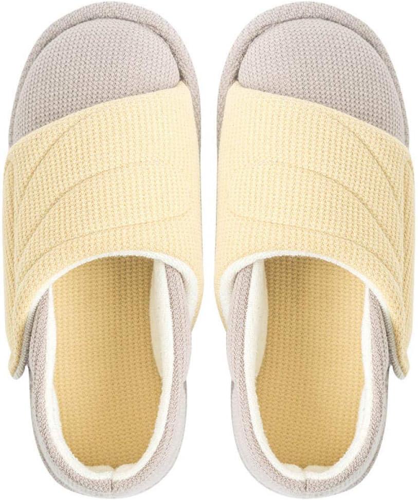 Zapatillas Ortopédica para ensanchar Ajustable ,Zapatos de confinamiento finos de verano, zapatos de tacón antideslizantes para mujeres embarazadas-yolk_45-46,Zapatos médicos para cirugía postoperat