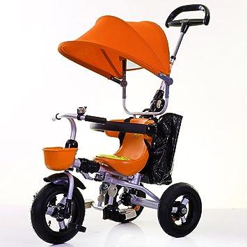Triciclos niños Bicicleta 1-4 años de Edad Carro de Carro de bebé Bicicleta Infantil Trike Niños 3 Ruedas (Color : Naranja) : Amazon.es: Juguetes y juegos