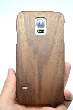 new arrival 960e3 d89f0 Samsung Galaxy S5 Wood Case - Walnut - Premium Quality Natural Wooden Case  for your Smartphone and Tablet - by VolksRose®