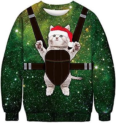 URVIP Unisex Christmas Themes 3D-Print Athletic Sweaters Fashion Hoodies Sweatshirts