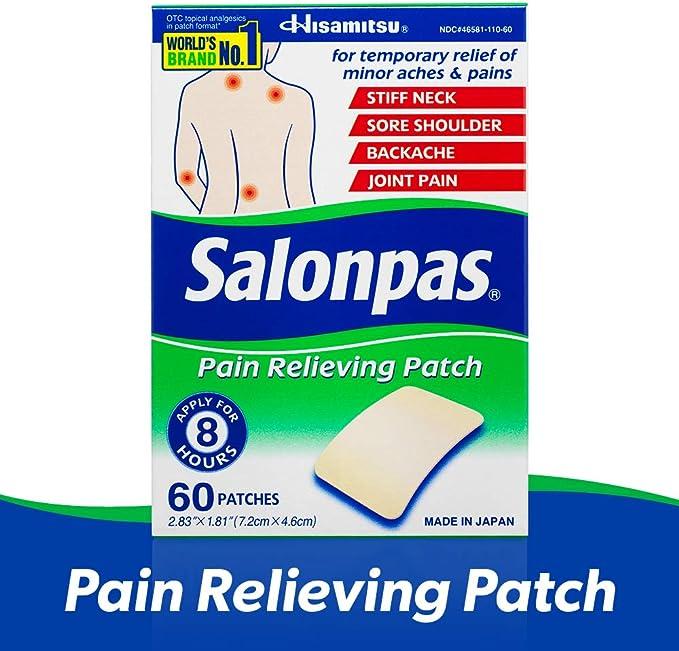 Amazon Com Salonpas Pain Relieving Patches 60 Count Health Personal Care
