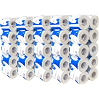 50 Rolls Toilet Paper, Professional Premium 3-Ply, Ultra Silky & Smooth Daily Use, Soft, Strong And Highly Absorbent Degradable Toilet Tissue Paper for Bathroom Kitchen Office Household