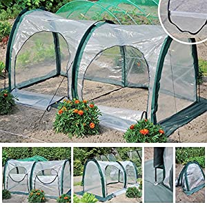 Garden Plant Tent, JARAGAR PE Plant Tunnel Waterproof Durable Cloche Greenhouse for Plants Outdoor Portable Greenhouses…