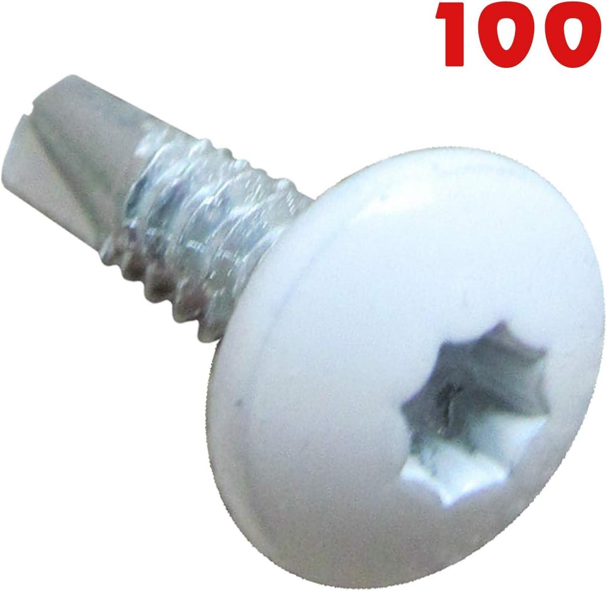 100 Pcs White 3//4 Cargo Utility RV Toy Trailer Exterior Self Tapping Screws