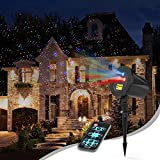 Laser Christmas Lights, Aluminum RGB InnooLight Outdoor Christmas Laser Lights Show, Starry Christmas Lights Projector, Laser Holiday Lights with RF Remote for, Outdoor, Garden, Halloween Decoration