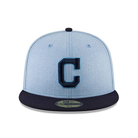 check out f14a8 2311a New Era Cleveland Indians 2018 Father s Day On Field 59FIFTY Fitted Hat –  Light Blue (