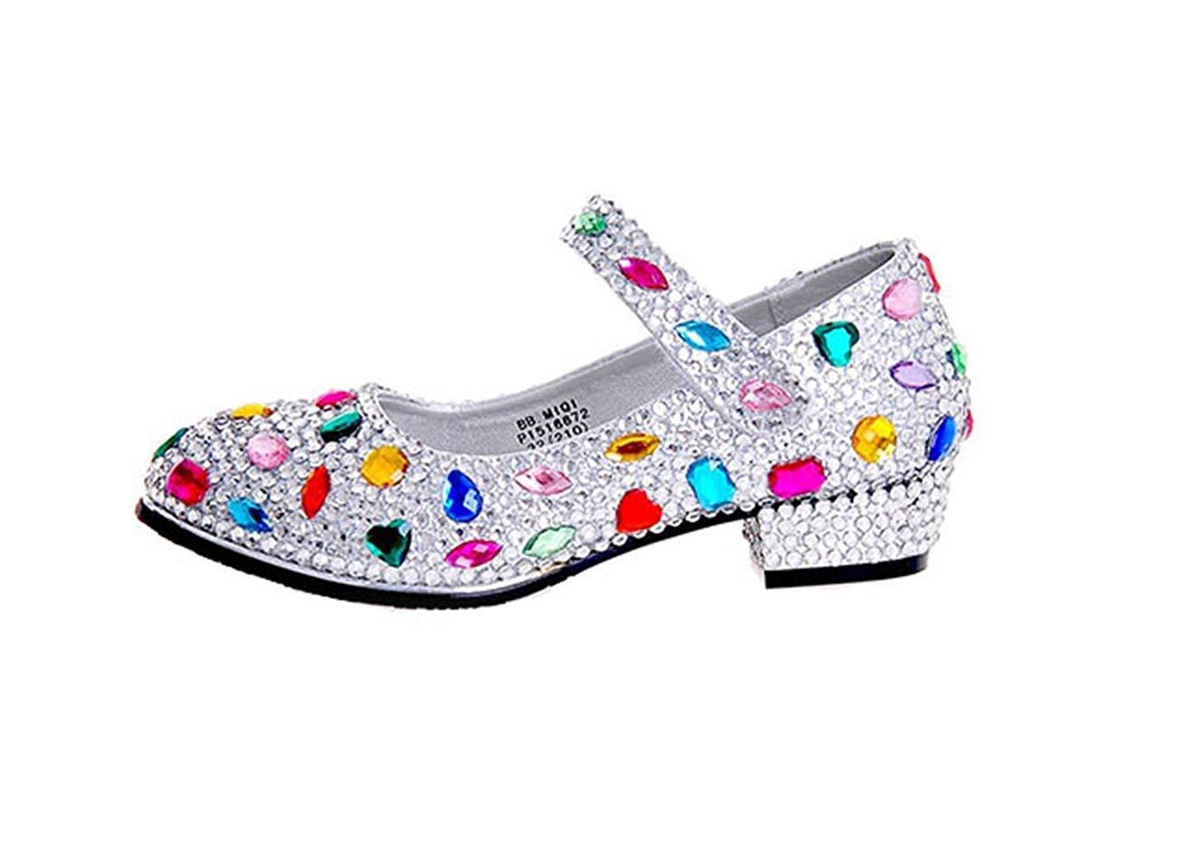 HhGold Damen Mary Jane Style Strass Low Heel Hochzeit Pumps Schuhe UK 2.5 (Farbe   -, Größe   -)