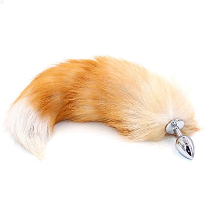 3a8490afa Amazon.com  Novelty Toys Plug with Big Real Crystal Fox Tails Metal Plug  Couple Adult Toys Erotic Cosplay Tail 3 Size for Choice