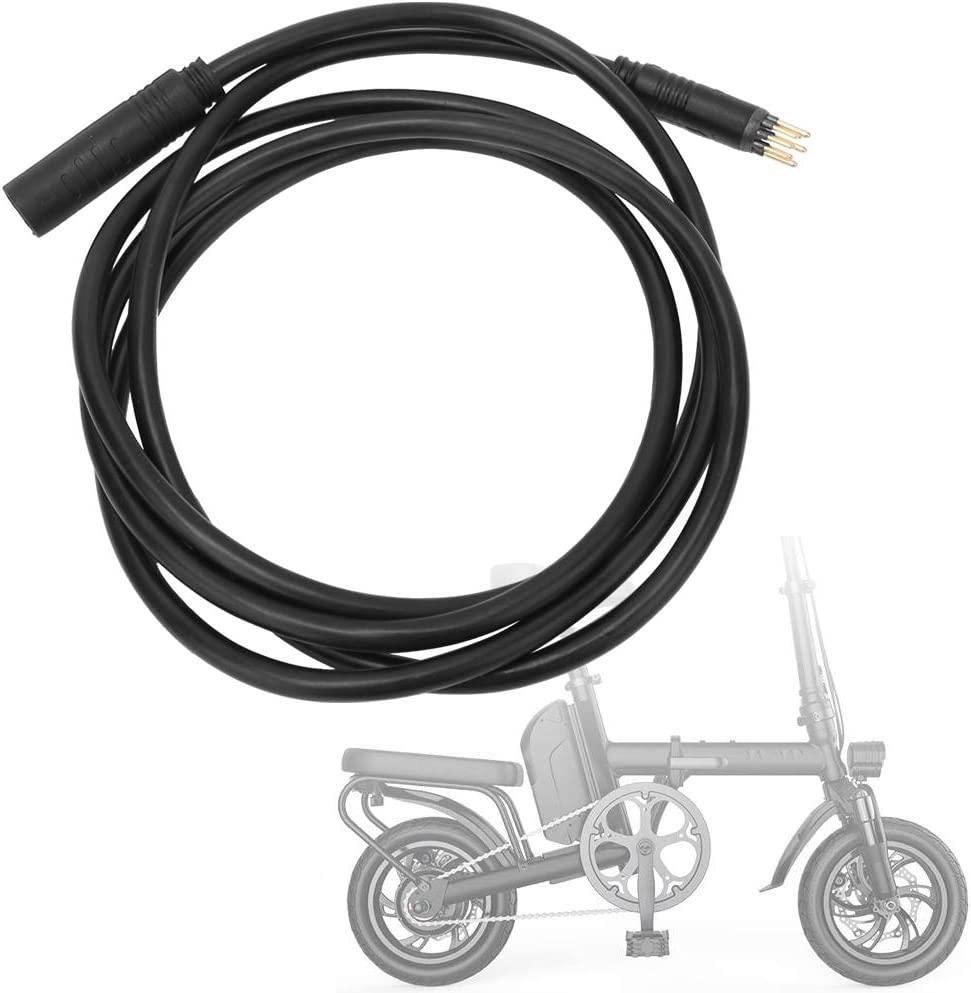 9 Pin Front Rear Wheel Motor Female to Male Wire Cable for Electric Bikes E-Bike Accessory MAGT Motor Extension Cable 1.5pin 600mm