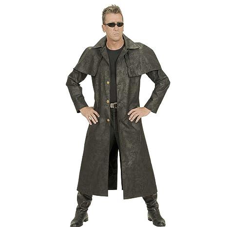 NET TOYS Abrigo Vaquero Negro Disfraz del Oeste XL 54 Traje Cowboy Sheriff Atuendo Salvaje Oeste