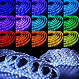 WYZworks SMD 5050 16 Colors LED Flexible Dimming Light Rope Strip Remote Controlled/IR Receiver - 100 Feet