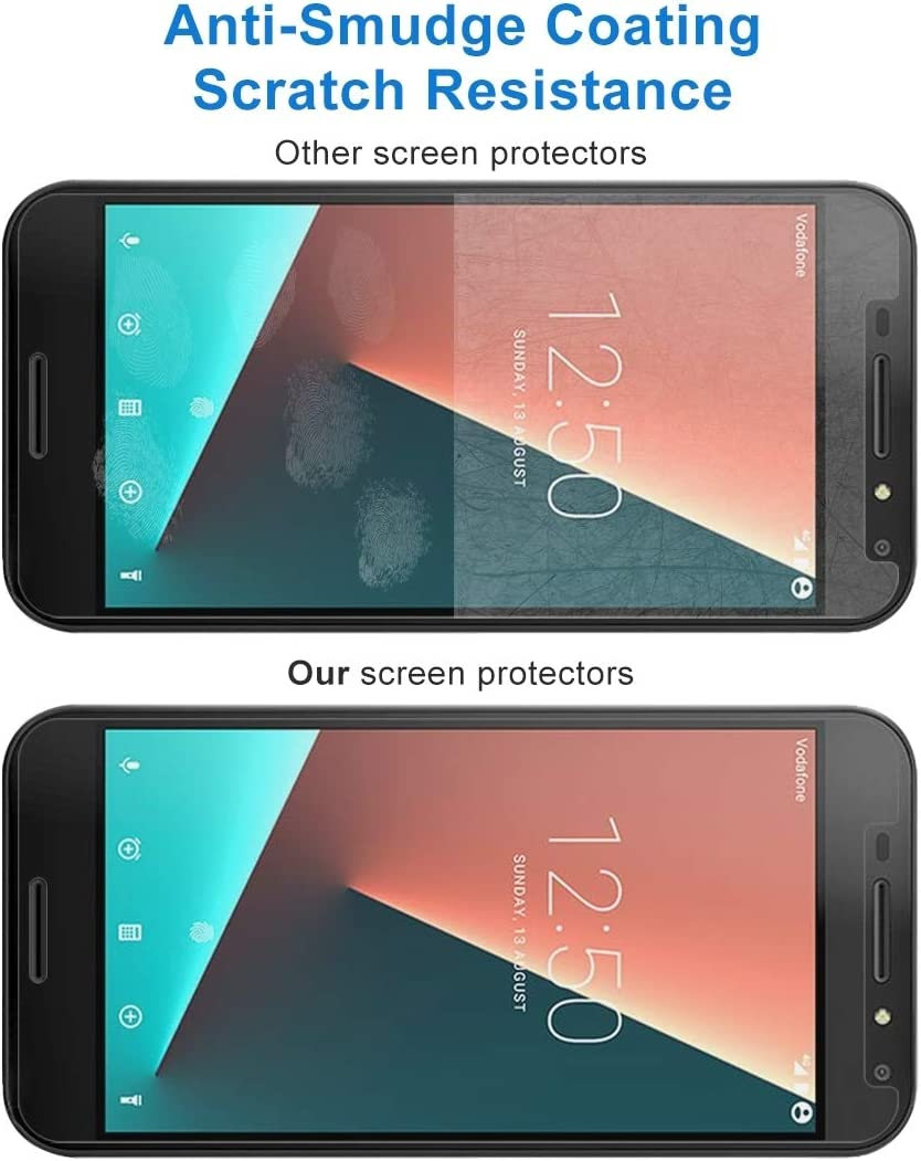 Wangl Mobile Phone Tempered Glass Film 100 PCS for Vodafone Smart N8 0.26mm 9H Surface Hardness 2.5D Curved Edge Tempered Glass Screen Protector Tempered Glass Film