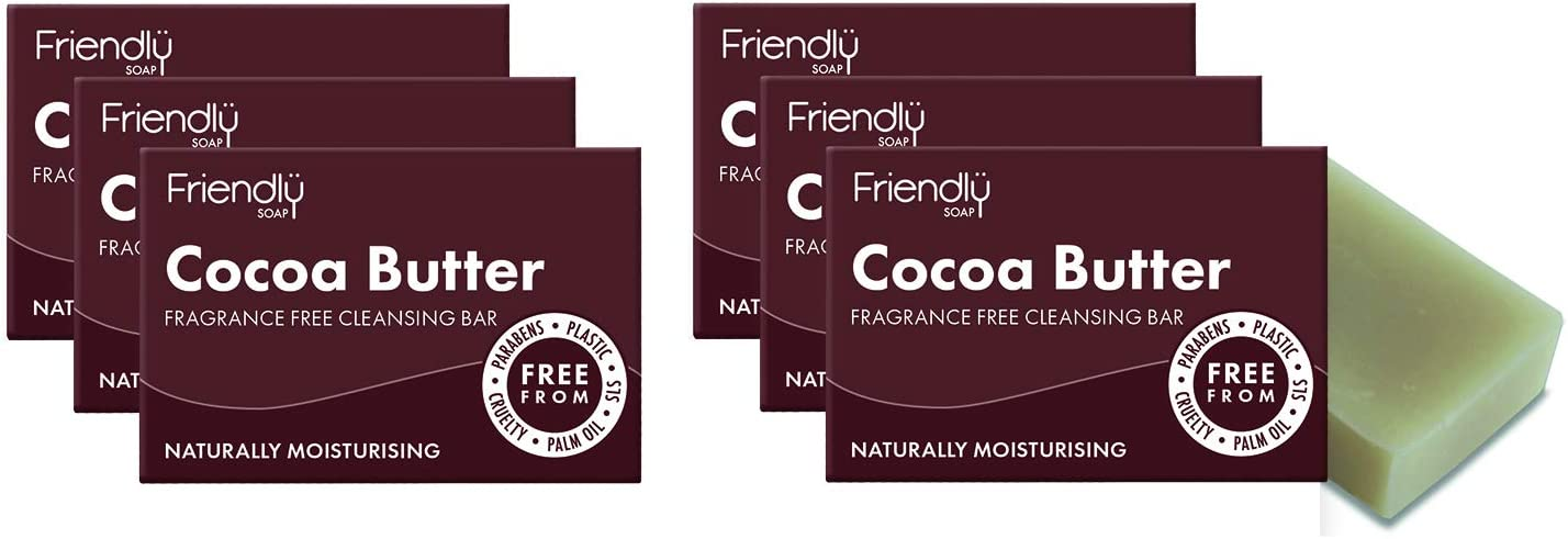 Friendly Soap Cocoa Butter Facial Cleansing Bar (Pack of 6)