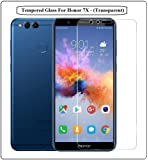 Annant Entp.™ Premium Quality 3D FlexibleTempered Glass Full Screen Coverage With 0.33mm Pro+ Anti-Fingerprints & Oil Stains Coating HD+ Quality Tempered Glass With Original Packaging Kit For Honor 7X - (Transparent)