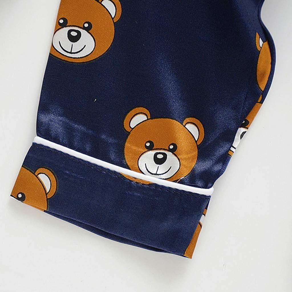 Sayla Sommer Baby-Jungen Schlafstrampler 5 Jahre) Neugeborenes Kleinkind Langarm-Pyjama-Trainingsanzug-Set f/ür Kinder mit Tiermotiv (12Monate