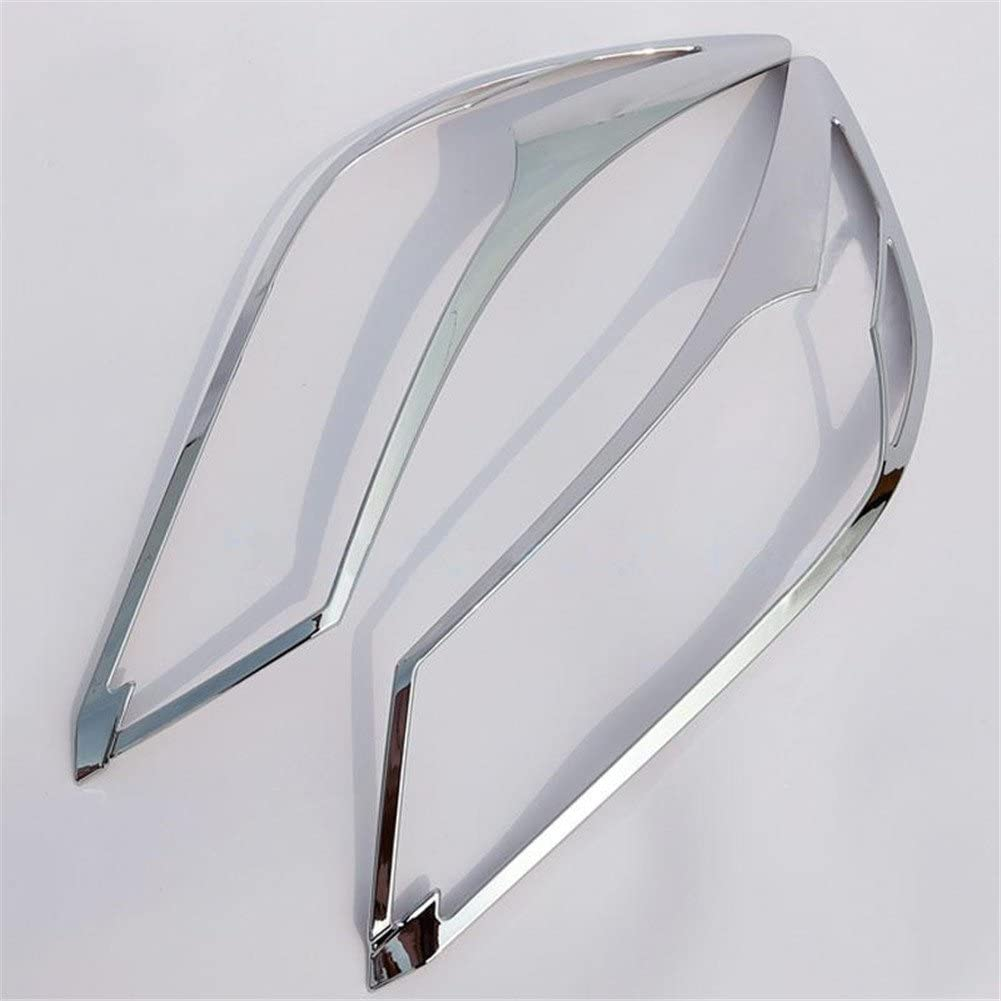 Mavis ABS Chrome Front Headlight Lamp Cover Trim for Accord 2-pack