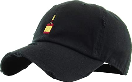 f62fdbcd074c0 KBSV-047 BLK Henny Bottle Vintage Distressed Dad Hat Baseball Cap Polo  Style Adjustable