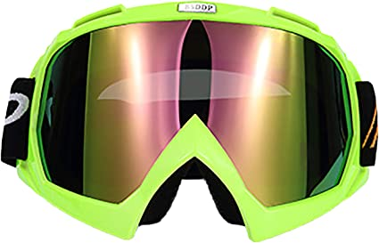 Motorcycle Motocross Off-road UTV ATV Race MX Goggles Dark Green Smoke or Clear