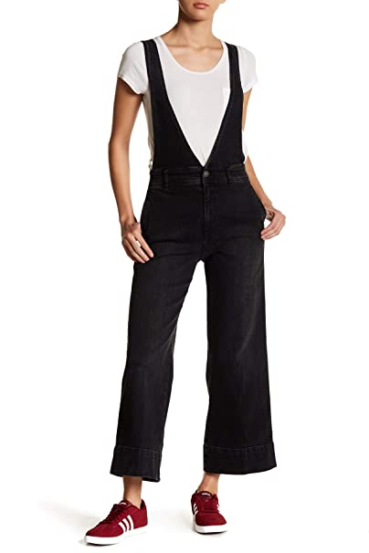 7588abf6 Free People Women's Wide Leg A-Line Overalls Black 10: Amazon.ca: Clothing  & Accessories