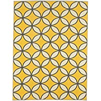 Ottomanson Studio Collection Star Trellis Design Area Rug, 50 X 60, Yellow