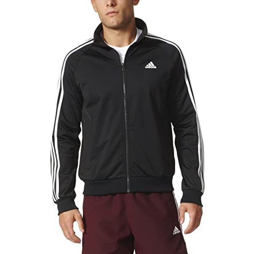 new concept 42e45 f0b03 Image Unavailable. Image not available for. Color  adidas Men s Big   Tall Essentials  3-Stripes Tricot Track Jacket Black White Large