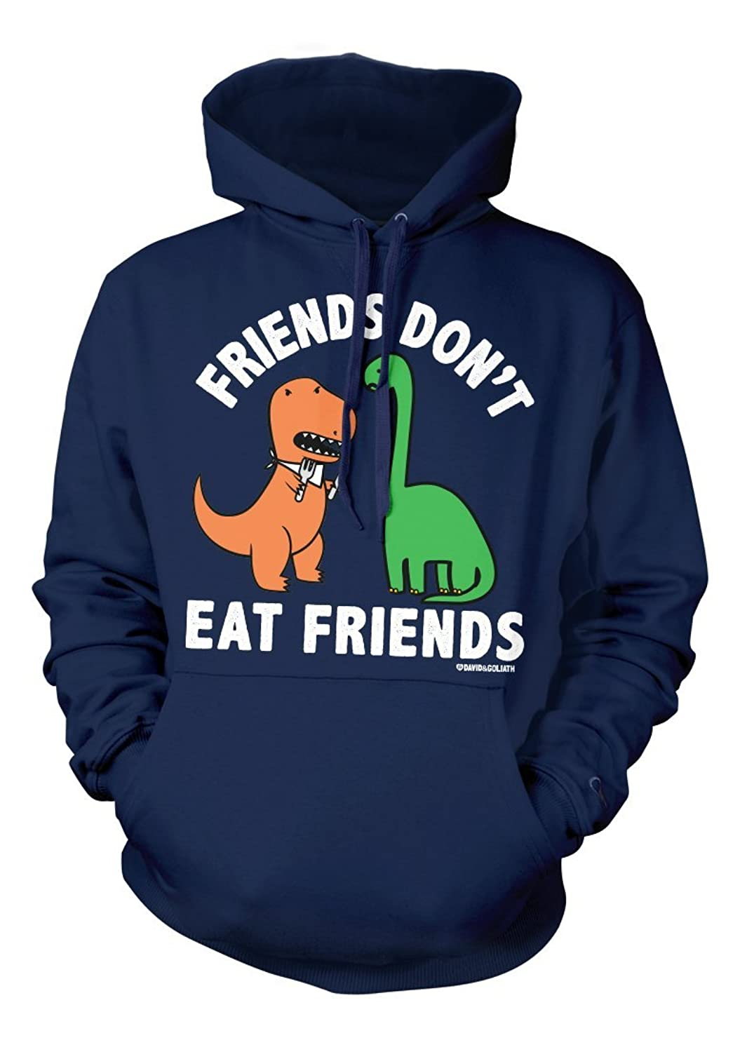 David and Goliath Eat Friends Unisex Hooded Sweatshirt