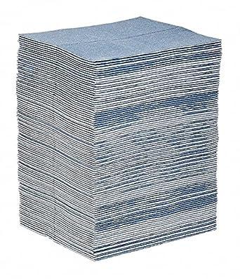 Pig Blue Absorbent Mat Pad 34 Gal Pk100 Amazon Com