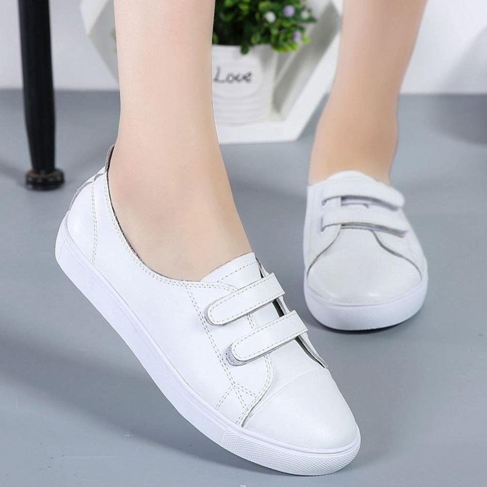 ❤️Casual Shoes, Neartime Clearance Women Leather Flats Shoes Leisure Lazy Shallow Round Toe Comfortable Sneakers