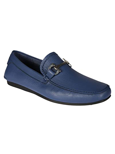 Salvatore Ferragamo - Mocasines para Hombre Azul Azul IT - Marke Größe: Amazon.es: Zapatos y complementos
