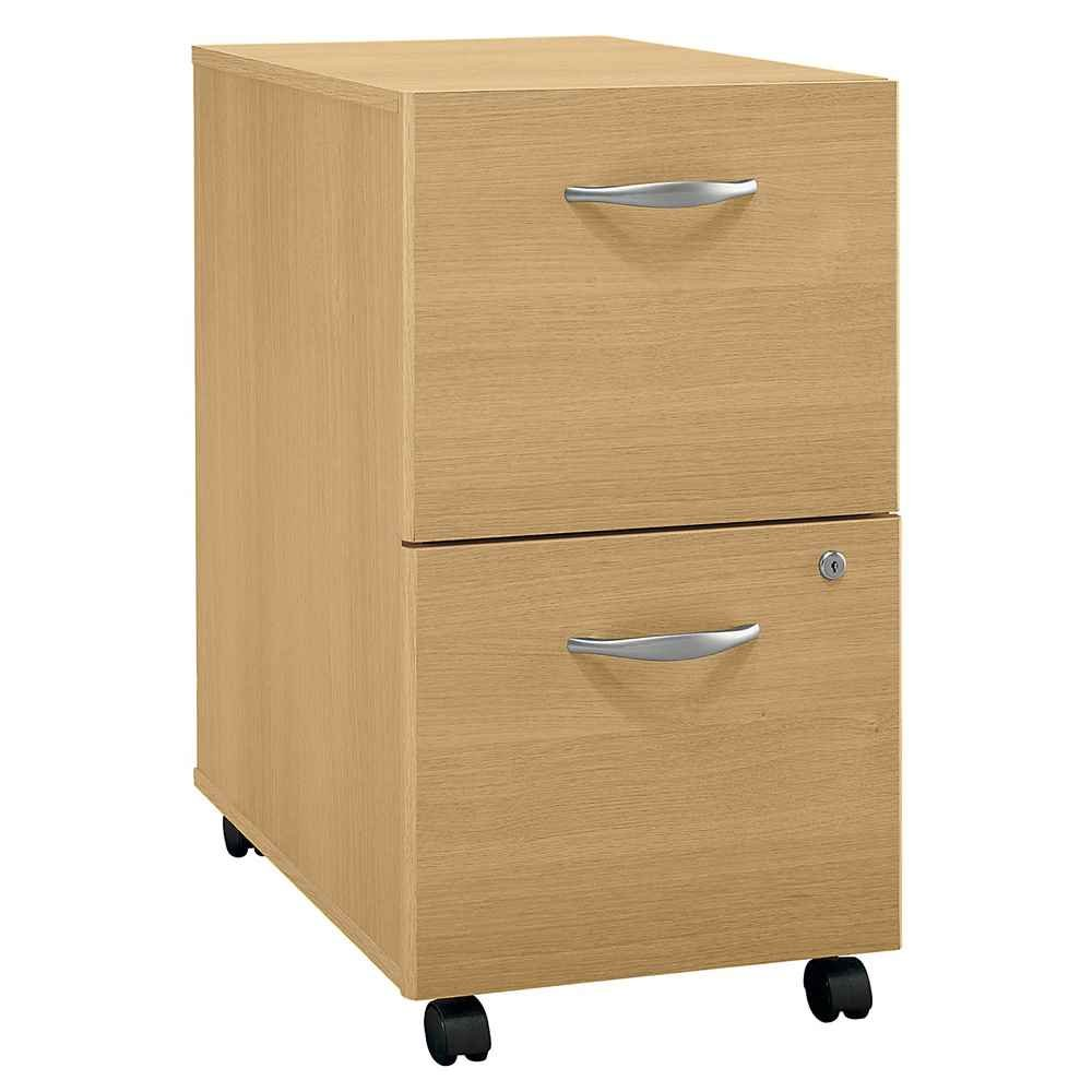 Amazon.com : Bush Business Furniture Light Oak Rolling File Cabinet    Series C : Vertical File Cabinets : Office Products