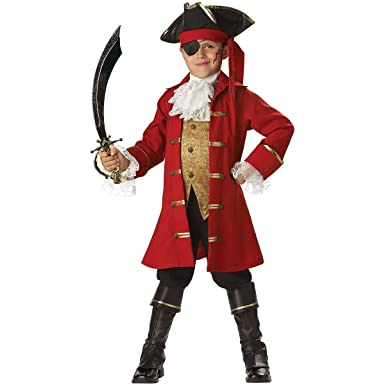 NEW Kids Pirate Captain Hook Boys Halloween Costume 8 Boys Large (fits size 8)  sc 1 st  Amazon.com & Amazon.com: NEW Kids Pirate Captain Hook Boys Halloween Costume 8 ...