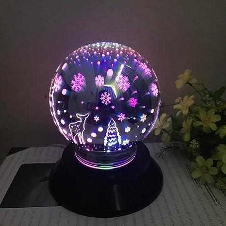 Led Veilleuse, Boule De Cristal De Noël Lumières De ...