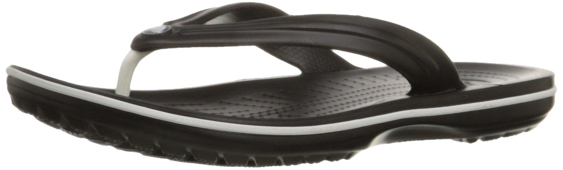 Crocs Crocband Flip Flop, Black, Men's 7, Women's 9 Medium by Crocs