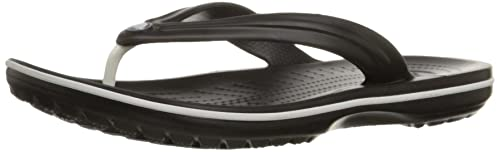 crocs Unisex Crocband Black Flip Flops and House Slippers Women's Flip-Flops & Slippers at amazon